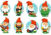 istock Gnome Garden Set 472348949