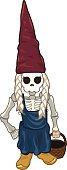 Gnome Girl Spooky - Illustration