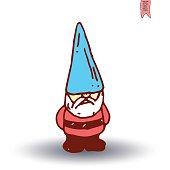gnome Hand drawn, vector illustration.
