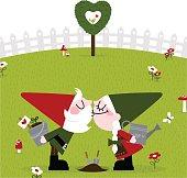 Couple of gnomes planting love. http://i681.photobucket.com/albums/vv179/myistock/garden.jpg