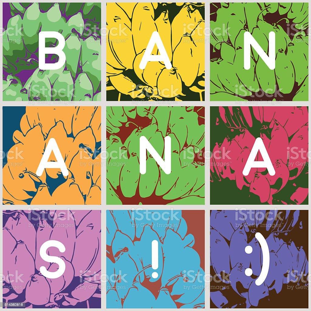 go bananas background vector art illustration