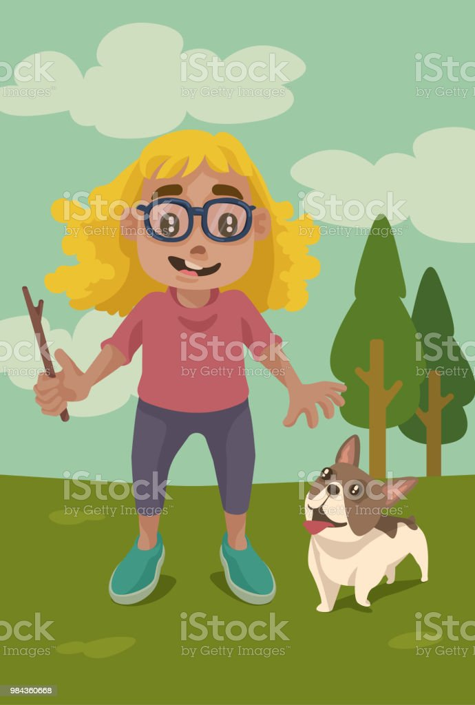 Go Fetch! vector art illustration