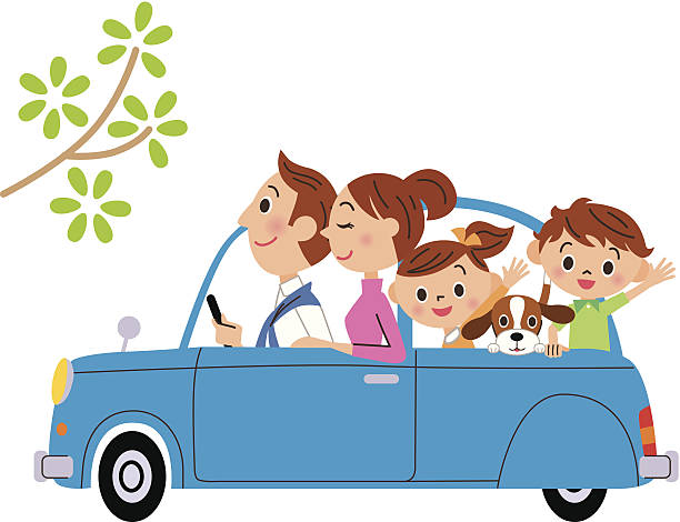 Royalty Free Family Road Trip Clip Art, Vector Images ...