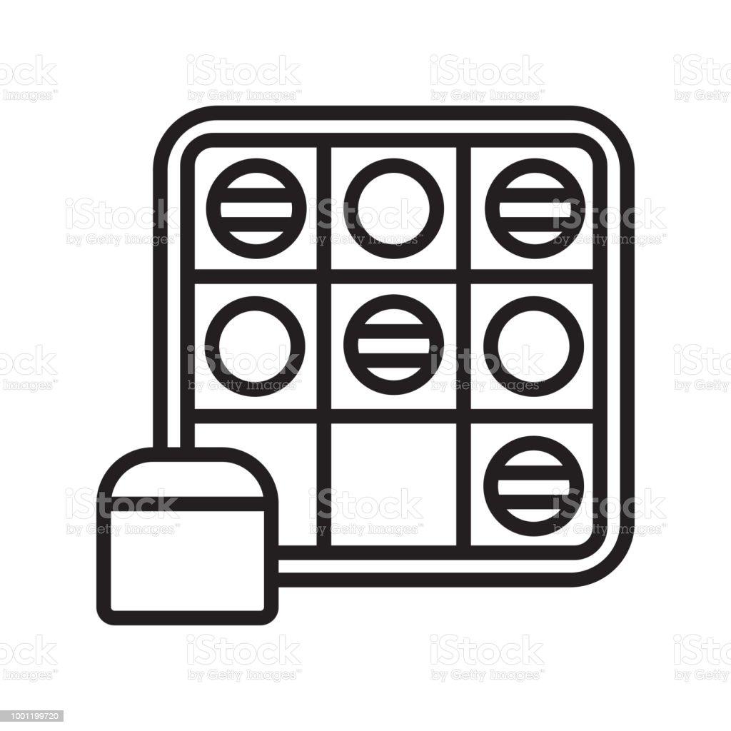 Vaya juego icono vector de señal y símbolo aisladas sobre fondo blanco - ilustración de arte vectorial