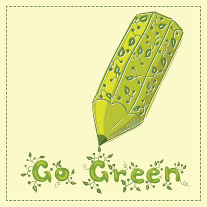 Go Green Concept Banner With Pencil Stock Illustration Download Image Now Istock