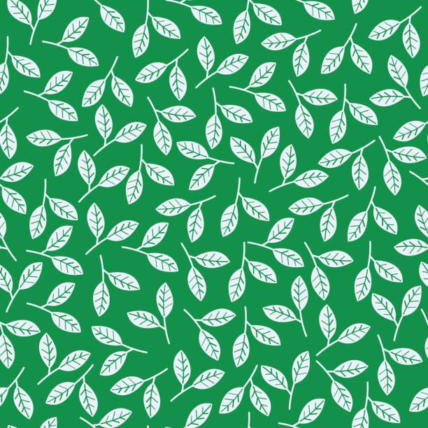 走綠葉圖案 - 葉狀花紋 幅插畫檔、美工圖案、卡通及圖標