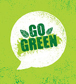 istock Go Green Organic Eco Motivation Speech Bubble 1193563861
