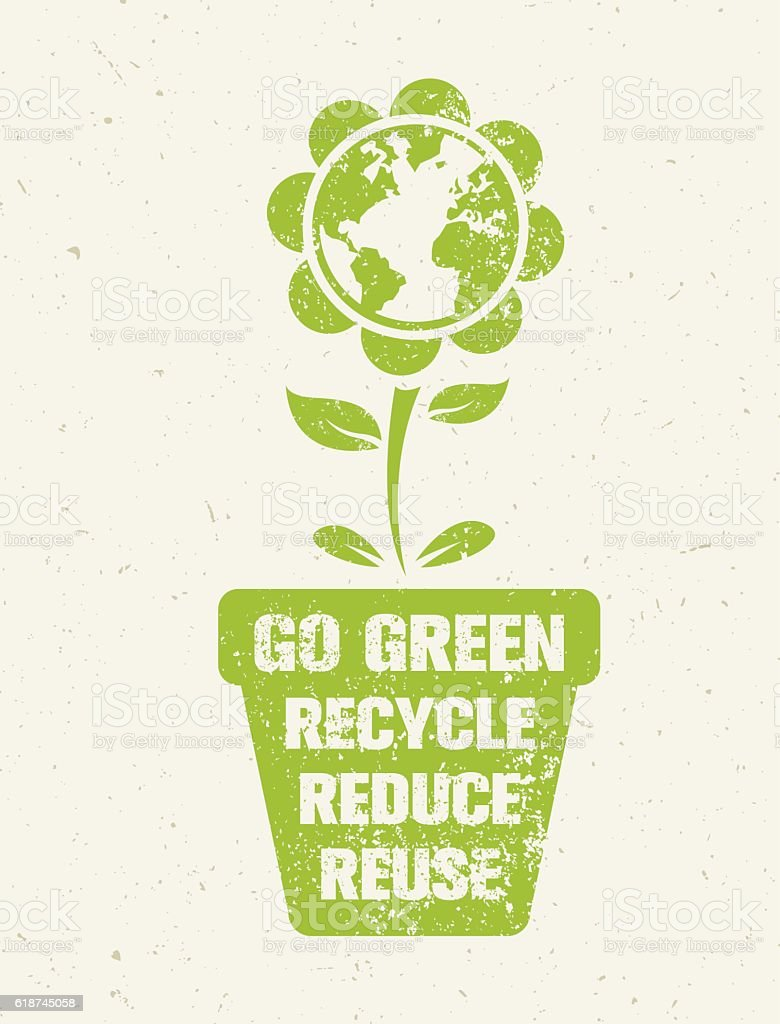 Go green recycle reduce reuse rough eco vector design element stock go green recycle reduce reuse rough eco vector design element royalty free go green recycle thecheapjerseys Images