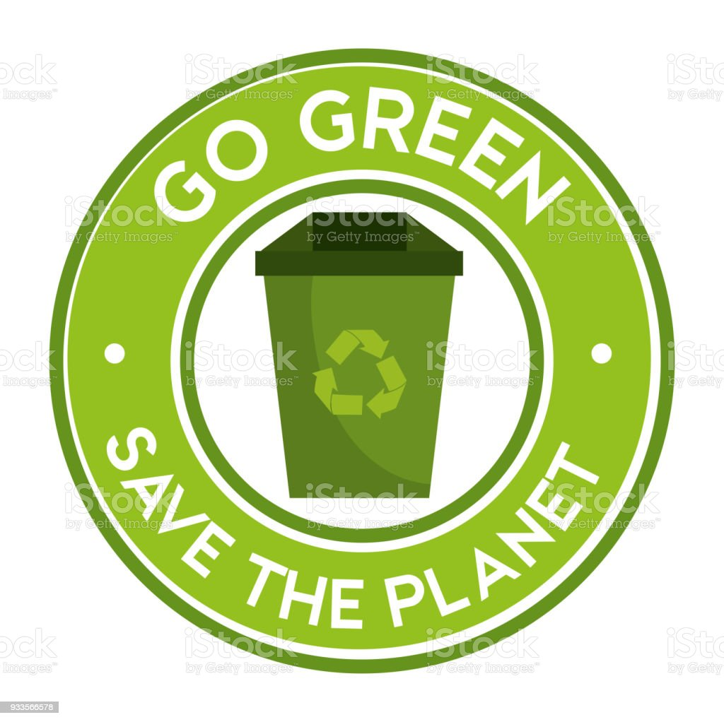 Go Green Save The Planet Icon Recycle Stock Vector Art More Images