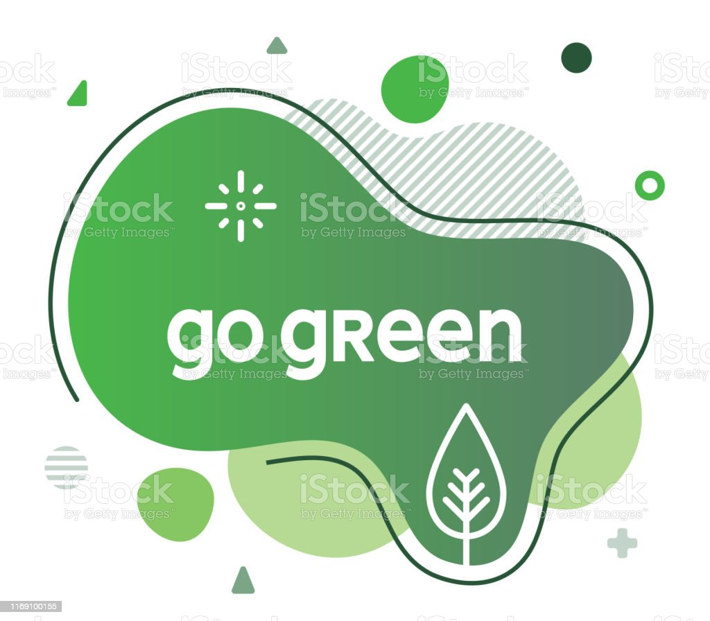 Go green social media advertisement banner to create eye catching and...