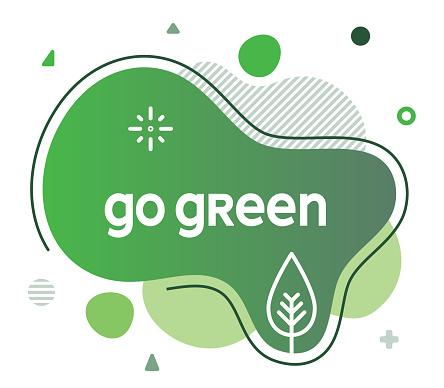Go Green Social Media Advertisement Banner
