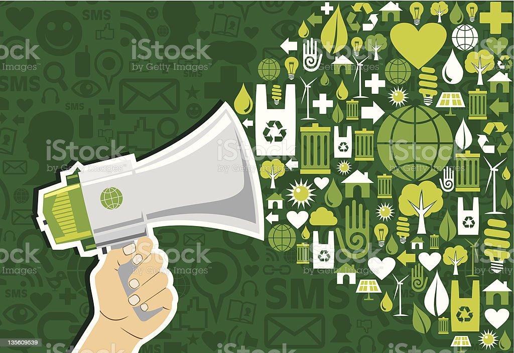 Go green social media Marketing royalty-free stock vector art