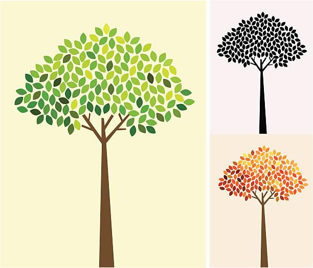 go green tree vector art illustration
