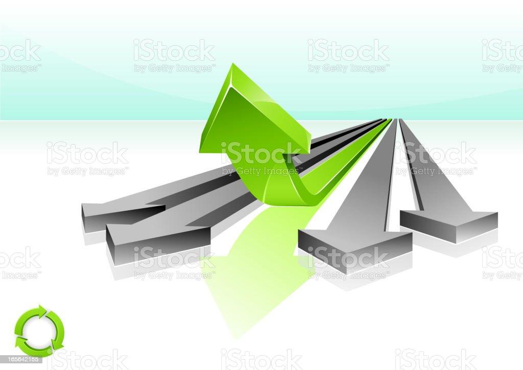 Go Green royalty-free stock vector art