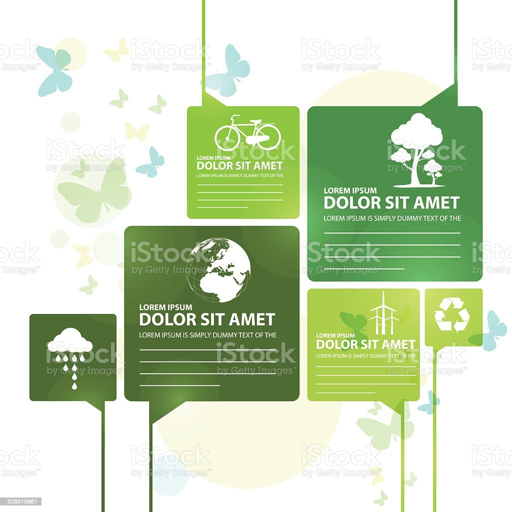 go green vector art illustration