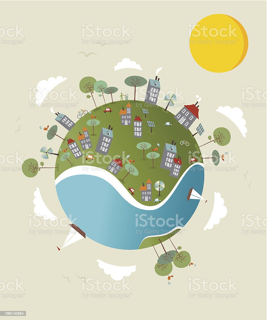 Go green World royalty-free go green world stock vector art & more images of environment