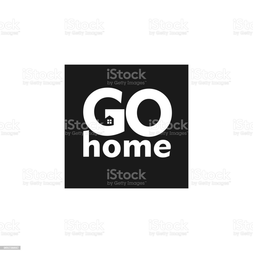 Go Home Vector Template Design royalty-free go home vector template design stock vector art & more images of abstract