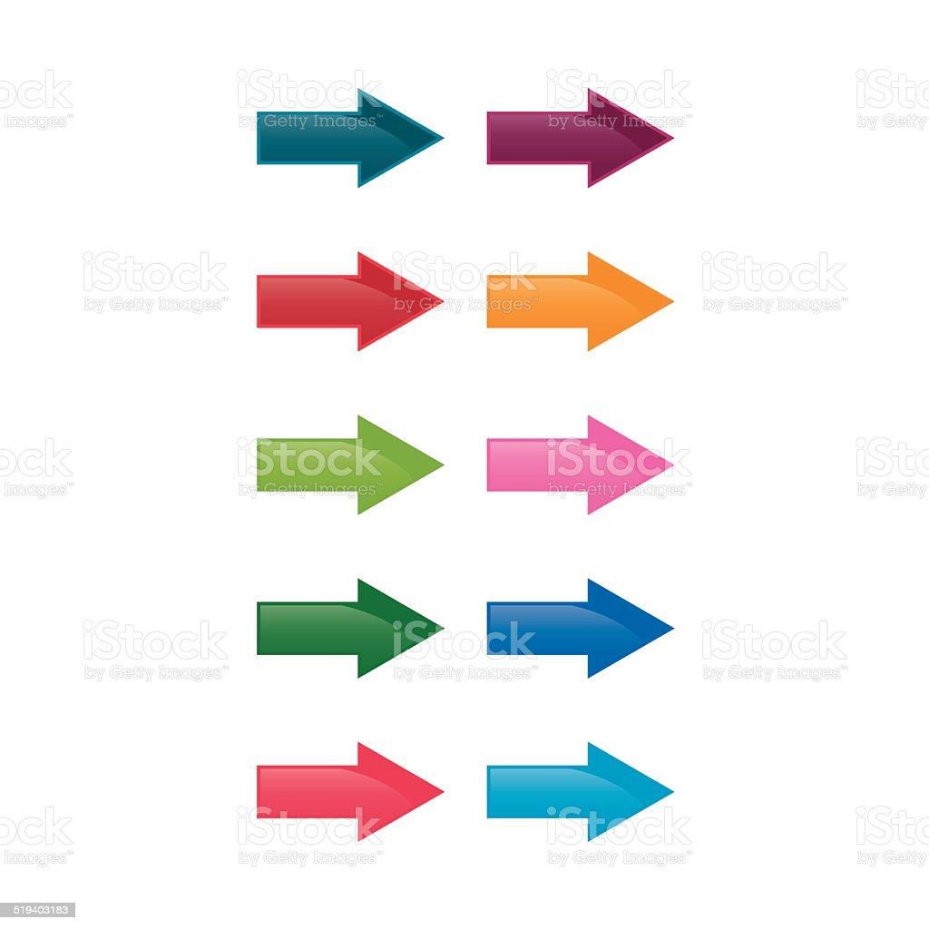 Go right! vector art illustration