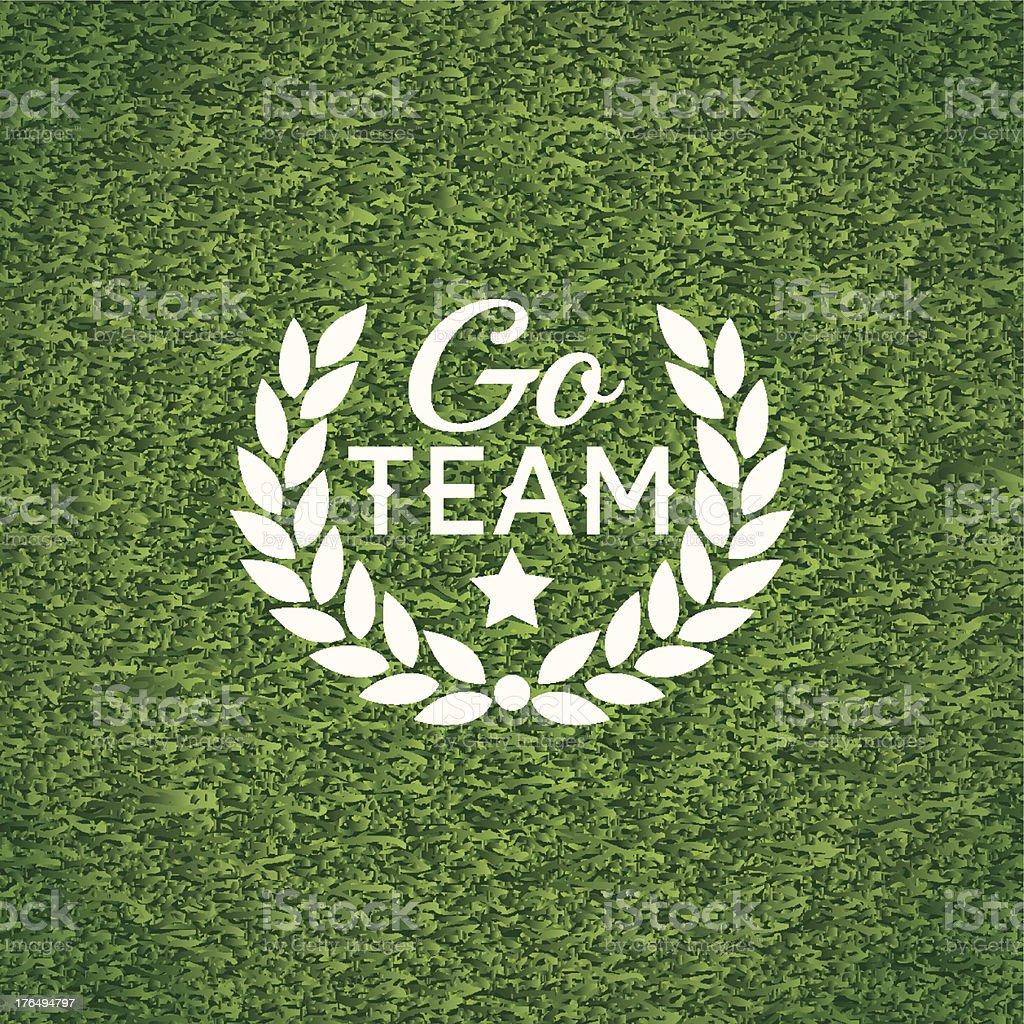 Go team banner vector art illustration