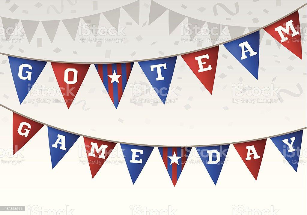 El equipo de bandera deportiva Banner - ilustración de arte vectorial