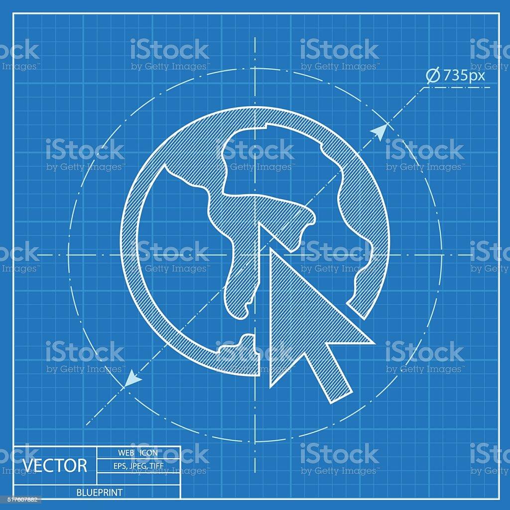 Go to web globe web blueprint icon vector illustration stock go to web globe web blueprint icon vector illustration royalty free stock vector malvernweather Choice Image