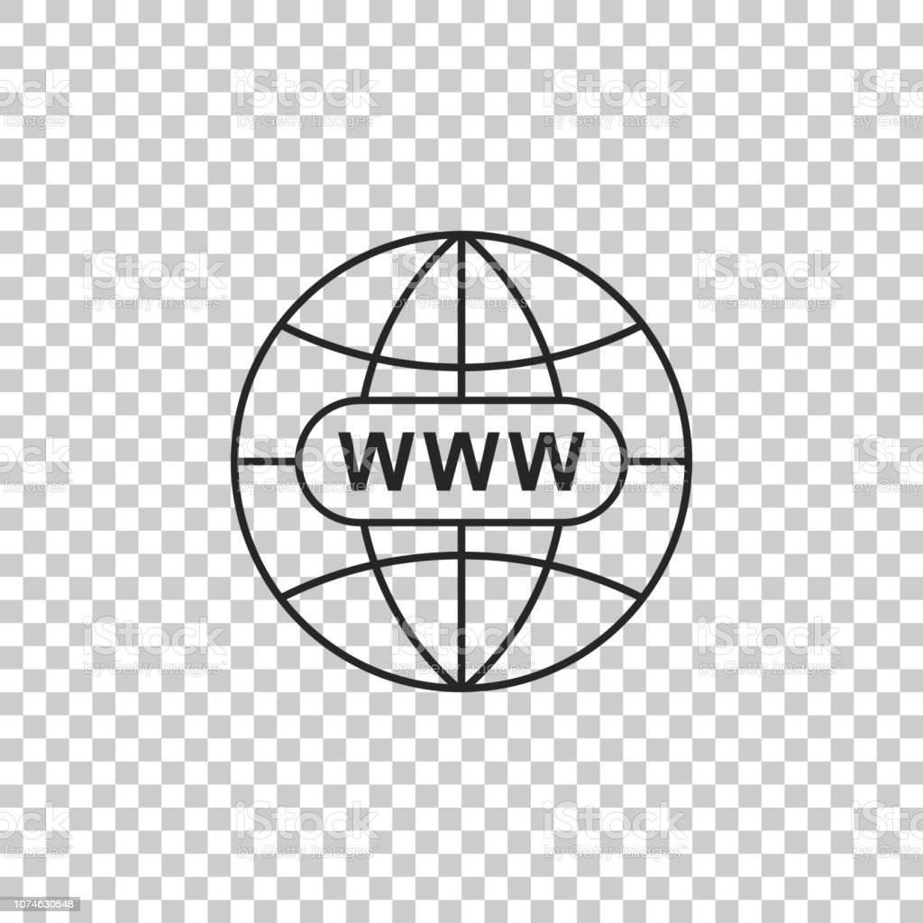 Go To Web Icon Isolated On Transparent Background Www Icon Website Pictogram World Wide Web Symbol Internet Symbol For Your Web Site Design App Ui Flat Design Vector Illustration Stock Illustration