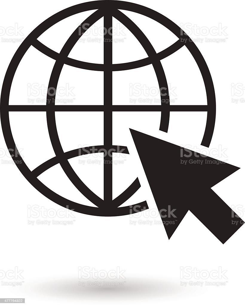 Go to web icon vector illustration vector art illustration