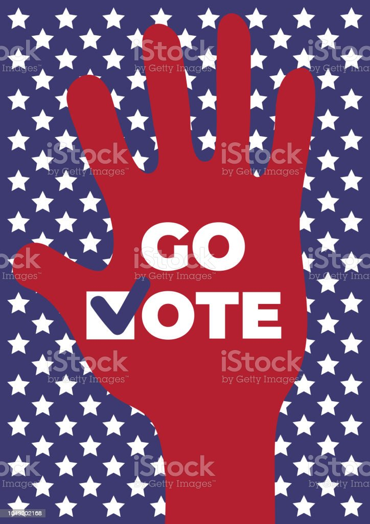 go vote social motivational poster template up hand vector