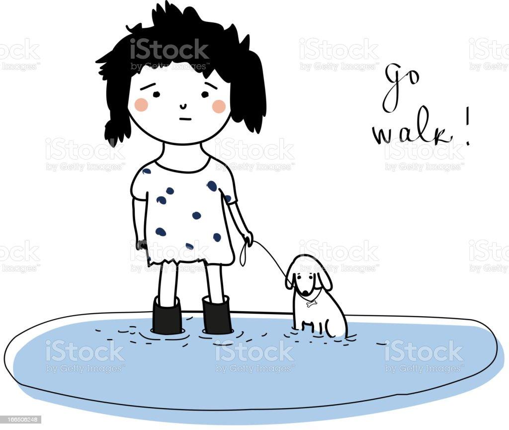 Go walk! royalty-free stock vector art