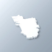 istock Goa 3D map on gray background 1341396125
