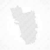 istock Goa map designed with lines on white background 1338816582