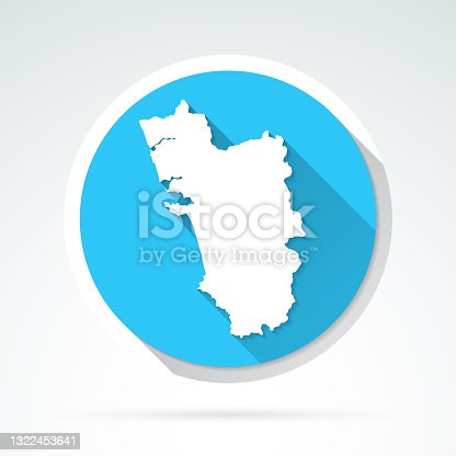 istock Goa map icon - Flat Design with Long Shadow 1322453641