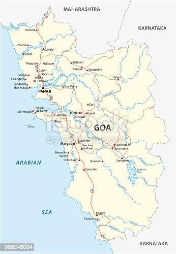 istock Goa road map 988248034