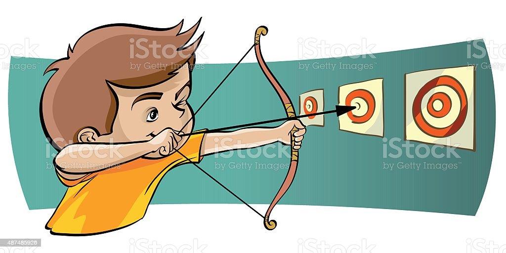 goal achievement vector art illustration