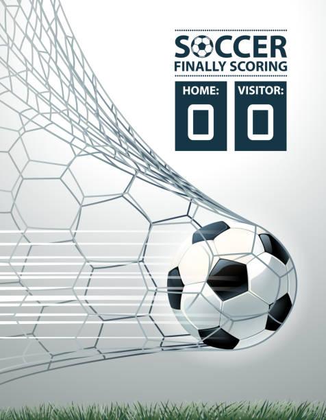 stockillustraties, clipart, cartoons en iconen met doel illustraties - soccer goal