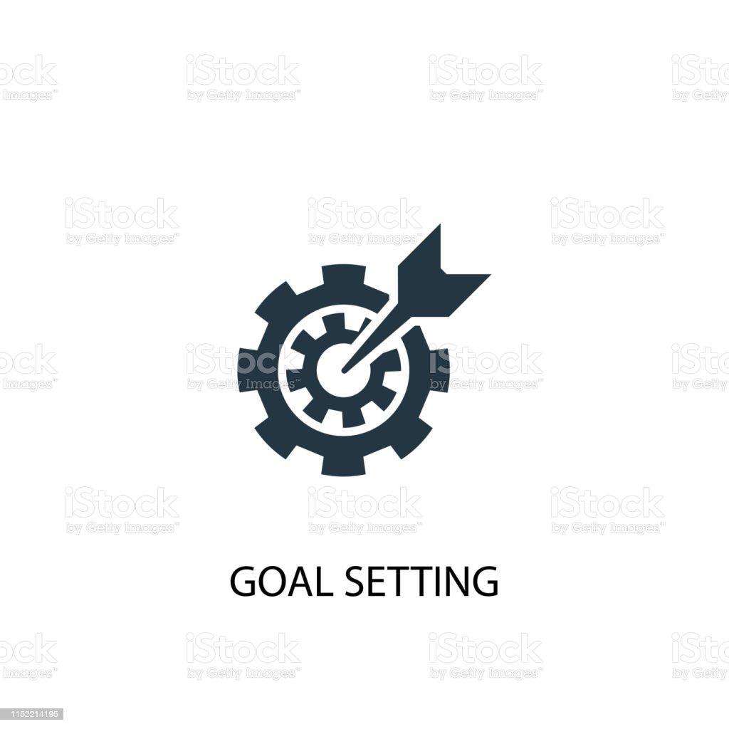 goal setting icon. Simple element illustration. goal setting concept...