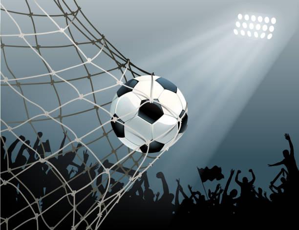 stockillustraties, clipart, cartoons en iconen met doel teken - soccer goal