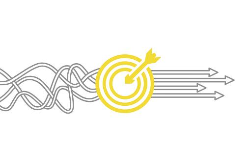Goal Solution Concept clipart