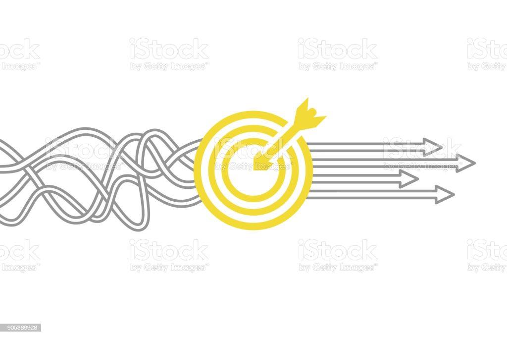 Ziel-Lösungskonzept – Vektorgrafik