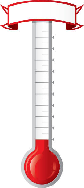 goal thermometer - goals stock illustrations