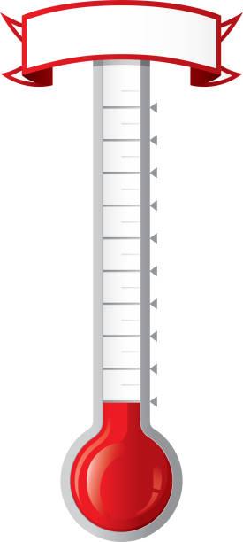 Objetivo termómetro - ilustración de arte vectorial