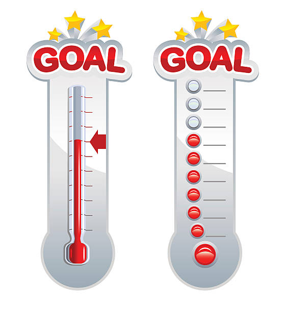 Goal Thermometers vector art illustration