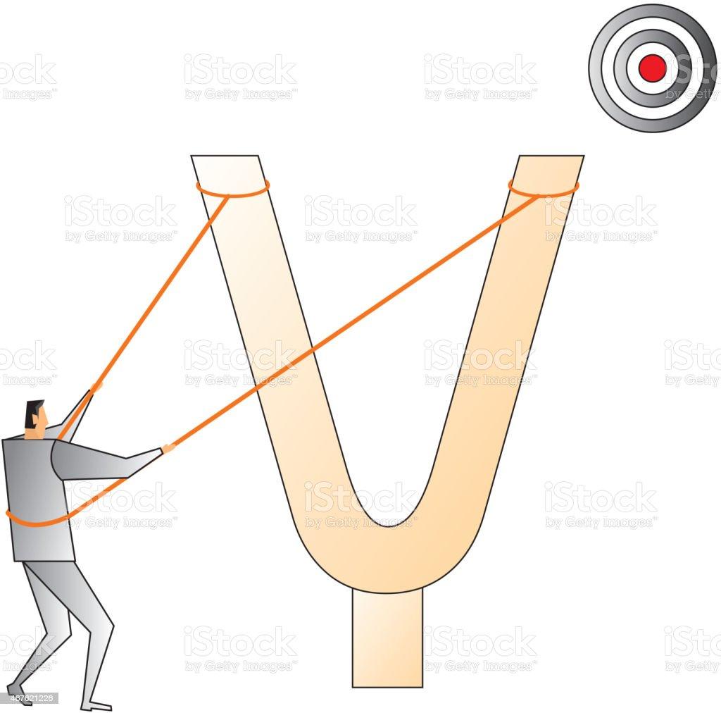 Goal vector art illustration