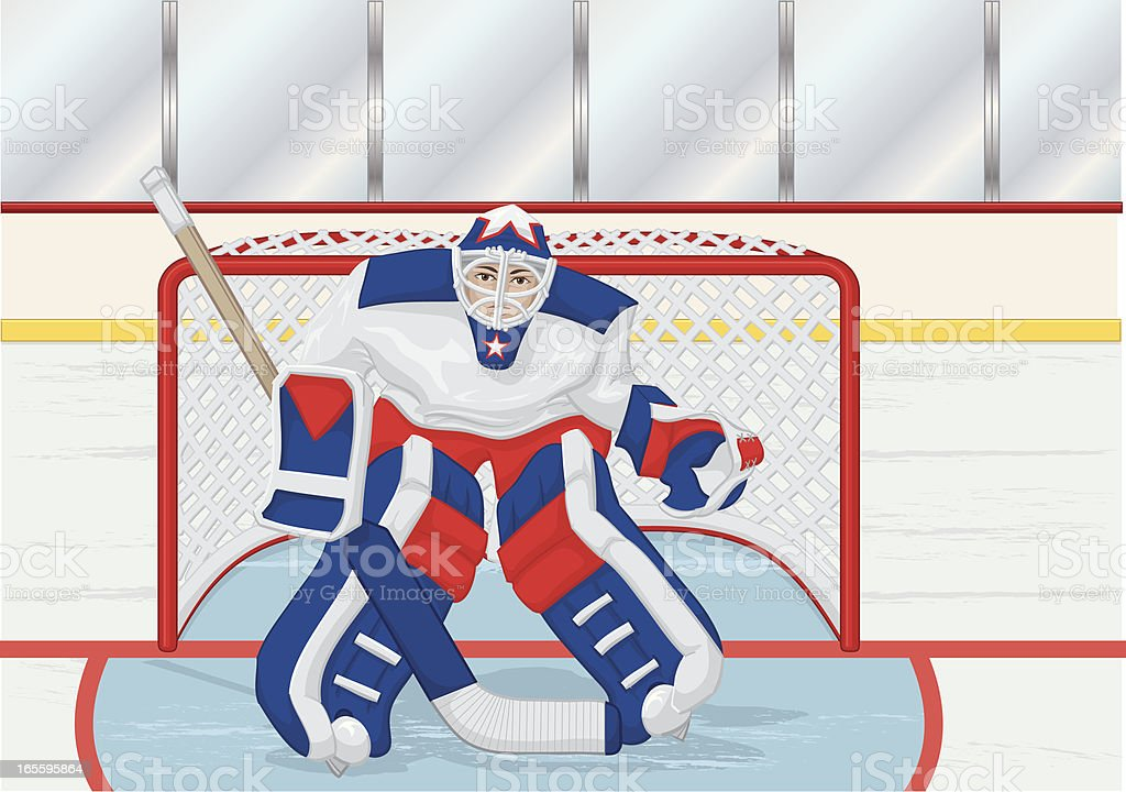 goalie with background royalty-free stock vector art