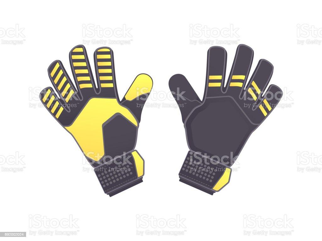 Goalkeeper protection gloves vector art illustration
