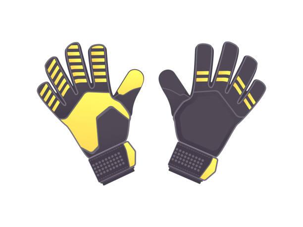 torwarthandschuhe - schutzhandschuhe stock-grafiken, -clipart, -cartoons und -symbole