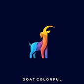 Goat Abstract Illustration Vector Template. Suitable for Creative Industry, Multimedia, entertainment, Educations, Shop, and any related business.