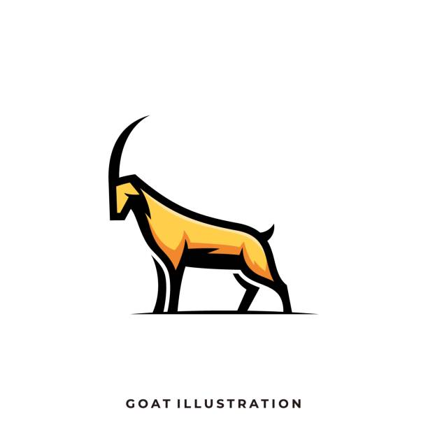 Goat Abstract Illustration Vector Template Goat Abstract Illustration Vector Template. Suitable for Creative Industry, Multimedia, entertainment, Educations, Shop, and any related business. domestic animals stock illustrations