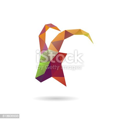 istock Goat abstract isolated on a white backgrounds, vector illustration 513605533