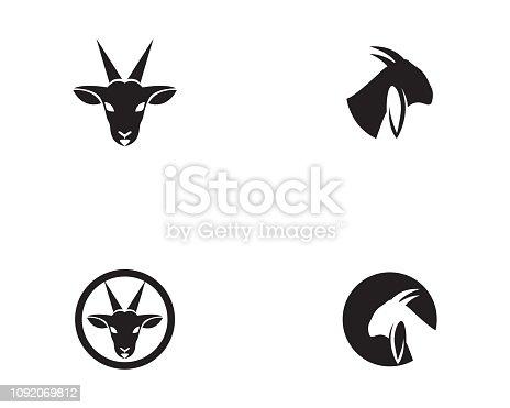 Goat black vector logo icons